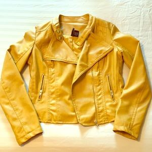 Jacket - Mustard, Faux Leather
